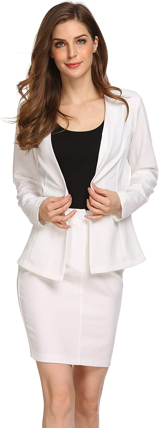 Burlady Women's Formal Office Business Work Jacket Skirt Suit Set