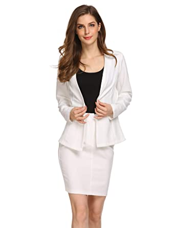 4e03fee18 Amazon.com: BURLADY Women's Formal Office Business Work Jacket Skirt ...