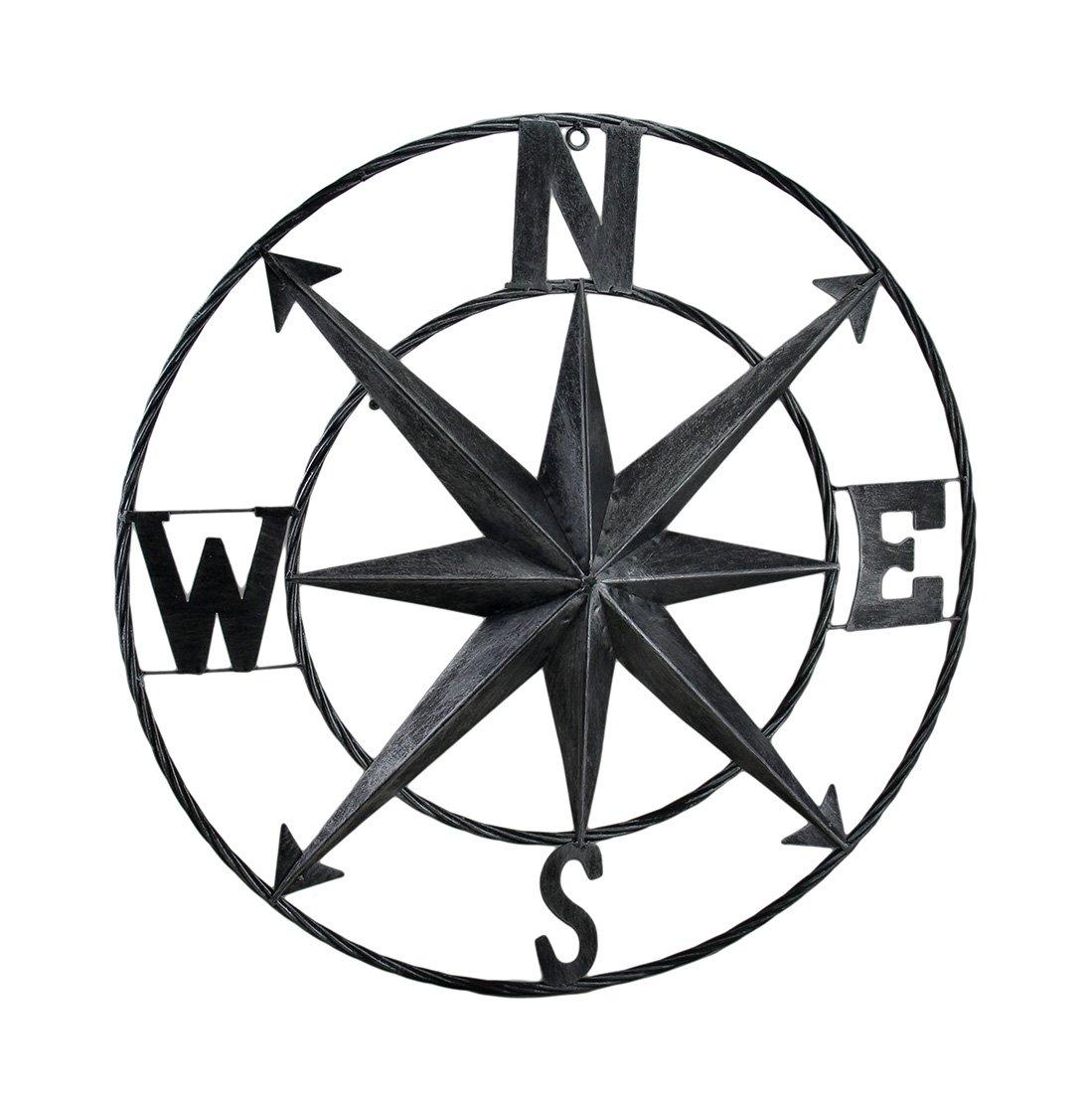 Dekorativer Kompass Rosen Metall Wand aufhängen