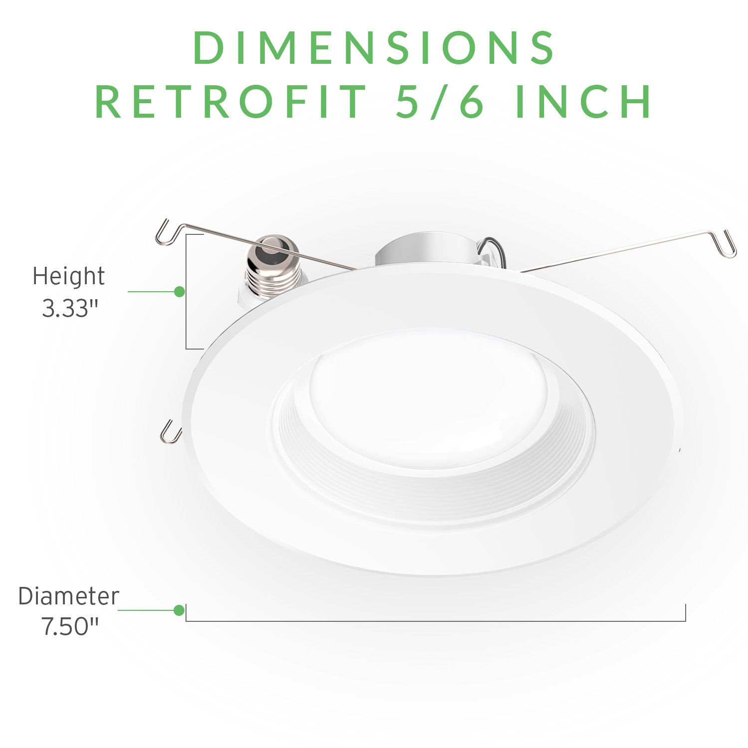 Sunco Lighting 12 PACK - 13W 5/6inch Dimmable LED Retrofit Recessed Lighting Fixture (=75W) 3000K Warm White Energy Star, UL, LED Ceiling Light - 965 Lumens Recessed LED Downlight