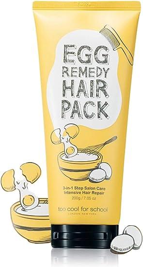 too cool for school Paquete de pelo remedio, 7,05 onzas de huevo / cuidado del cabello tratamiento proteína