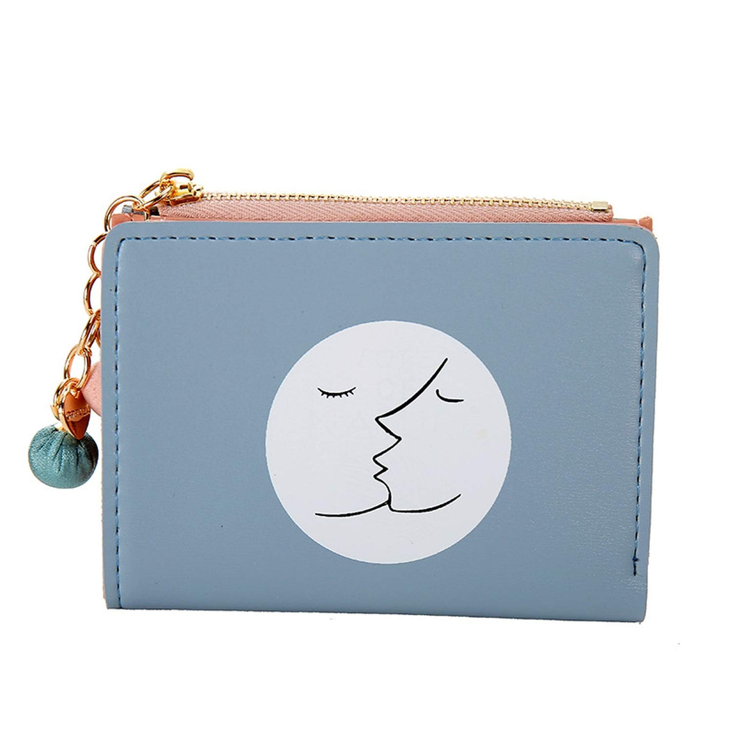 Amazon.com: Short Wallet Simple Style Zipper Womens Wallet ...