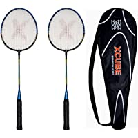 Badminton Racket Set of 2 by Xcube - Badminton Racquet Pair for Kids