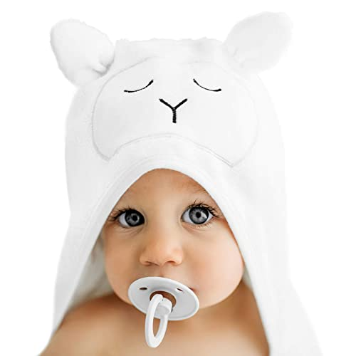 Lilyseed Premium Organic Bamboo Hooded Baby Towel and Washcloth Gift Set | Ultra Soft Baby Towels with Hood for Boys or Girls, Babies and Toddlers- Baby...