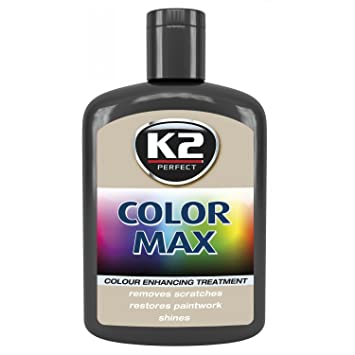 Black K2 Color Max Car Paint Polish Colour Restorer Cover Scratches Enhance Lustre