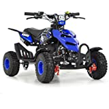 FUN:BIKES Kids Mini Quad Bike 49cc Petrol Quad - Ride On ATV Midi (Blue)