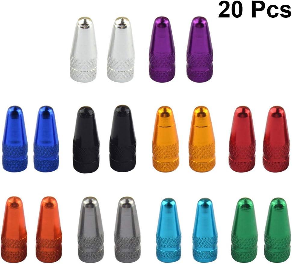 VOSAREA 20PCS Presta Válvula Tapa Multi-Color Anodizado de ...