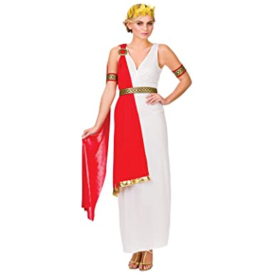 33d5cc0ba32 Roman Lady Historical Fancy Dress Ladies Ancient Rome Womens Greek Adult  Costume  Amazon.co.uk  Clothing