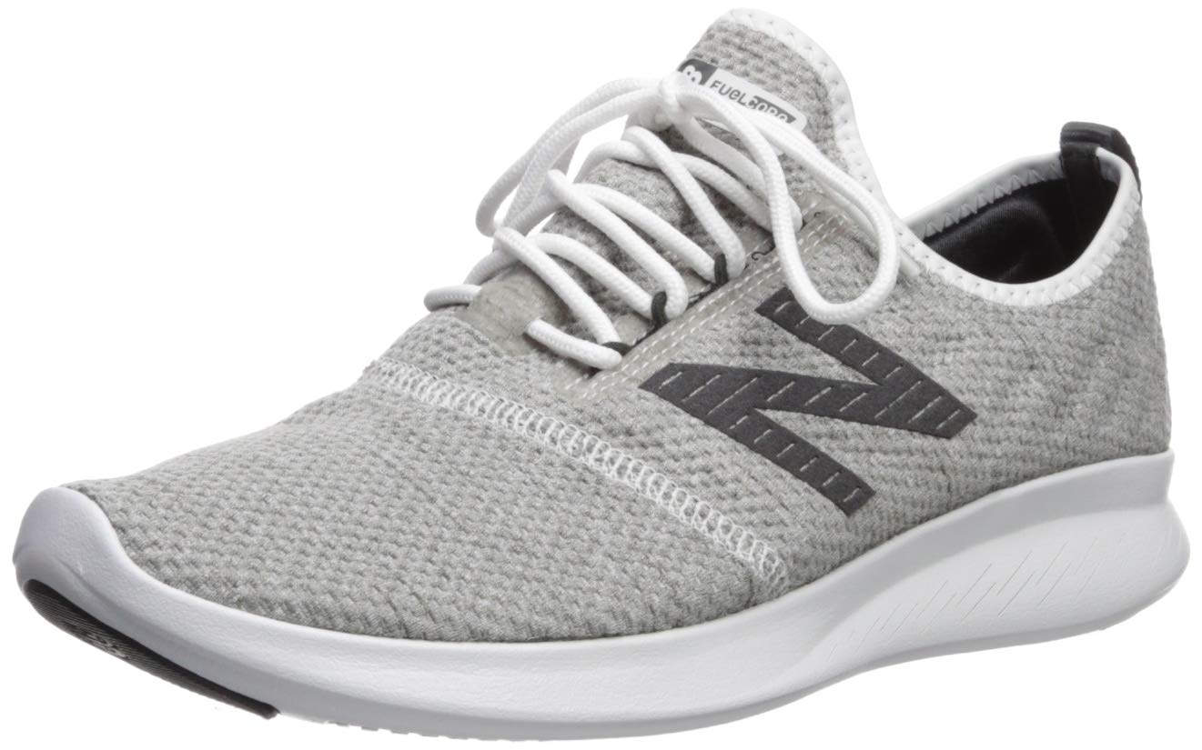 New Balance Men's Coast V4 FuelCore Running Shoe, White/Team Away Grey/Phantom, 13 4E US