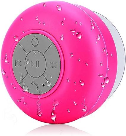 BONBON Bluetooth Shower Speaker Waterproof Water Resistant Handsfree  Portable Wireless Shower Speaker,Build-in Microphone, Solid Suction Cup, 8  hrs