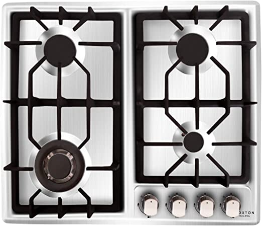 23.2 Stainless Steel Cooktop Built-in Stove Natural Gas Cooker 4 Burners