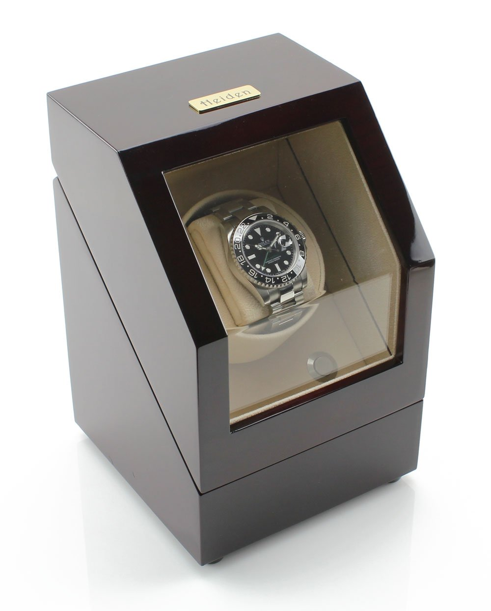 Heiden Battery Powered Single Watch Winder in Cherrywood