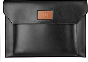 Dadanism 13-13.3 inch Laptop Sleeve Case Bag fits Surface Laptop Surface Book MacBook Pro Surface Pro X, Lightweight PU Case Bag Fit MacBook Air/Pro 2012-2016, Lenovo Dell Toshiba HP ASUS - Black
