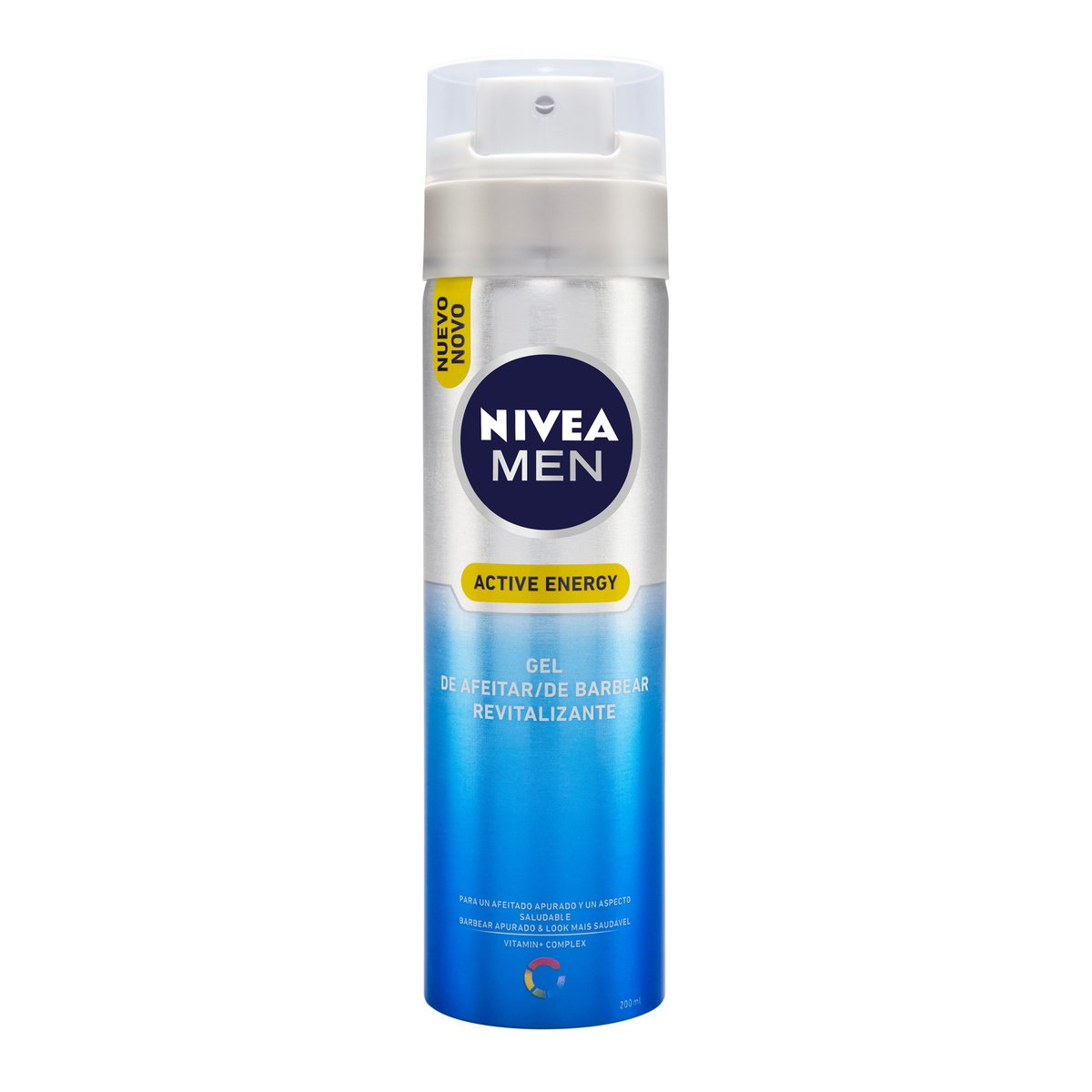 NIVEA MEN Active Energy - Gel de Afeitar Revitalizante , gel facial para un afeitado apurado y revitalizado, gel de afeitado para un aspecto saludable ...