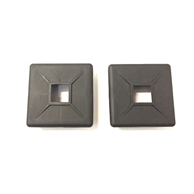 "Autmotive Authority 4"" Square Rubber Bumper Plug End Cap Cover RV Camper Trailer - 2 Pack: Automotive"