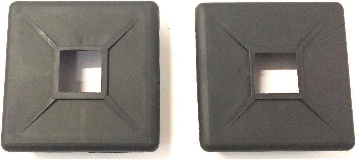 "Autmotive Authority 4"" Square Rubber Bumper Plug End Cap Cover RV Camper Trailer - 2 Pack"