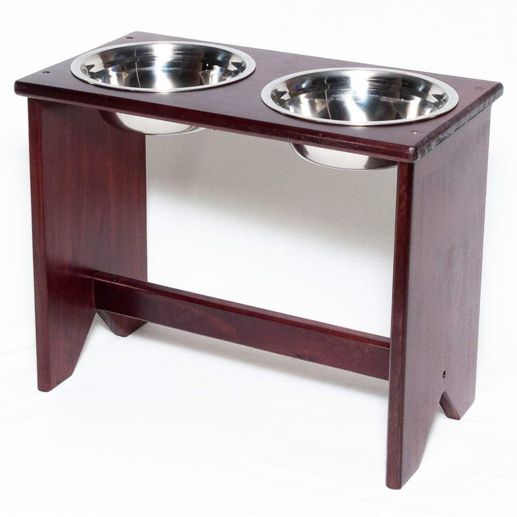 Elevated Dog Bowls Stand - Wooden - 2 Bowls - 400 mm / 16