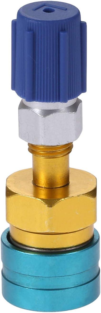 R134 A//C Low//High Adaptador de acoplamiento r/ápido ajustable para aire acondicionado con tapa