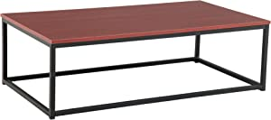 Flamrose Home Office Table, Coffee Table Desk for Living Room, Bedroom, Office, Desk Furniture (Brown)