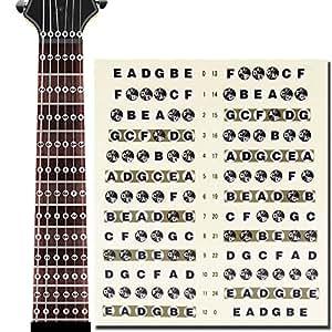 l 39 ms guitar fretboard note decals fingerboard frets map sticker for beginner learner practice. Black Bedroom Furniture Sets. Home Design Ideas