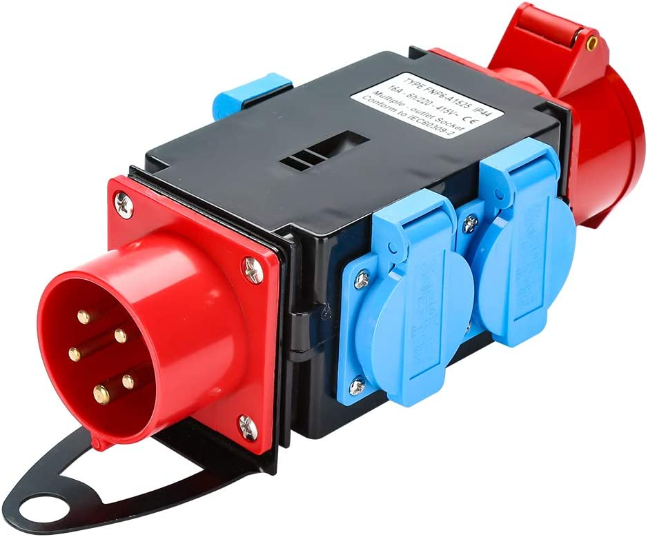 3 x 230V Schutzkontaktsteckdosen Industrie Stromverteiler WIS Kraftstrom Starkstrom Verteiler 16 A CEE 400V