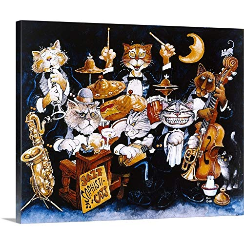 GREATBIGCANVAS Gallery-Wrapped Canvas Entitled Jazz Sophisticats by Bill Bell 36