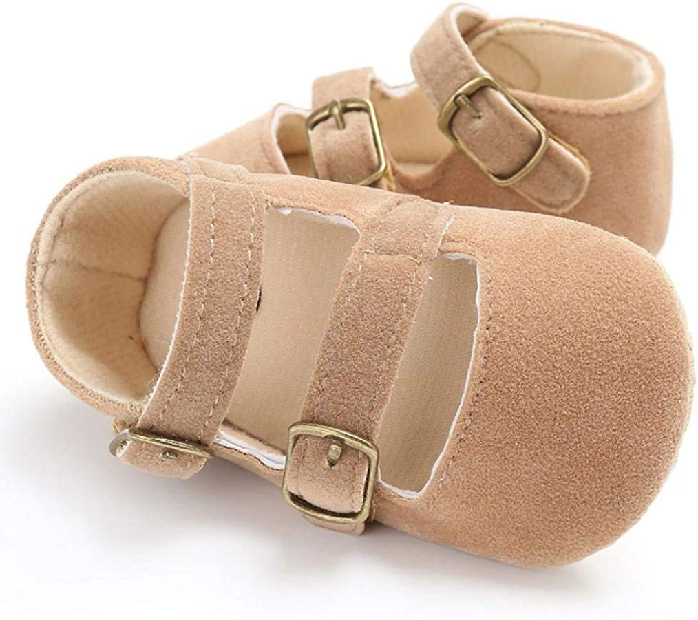 Voberry Baby Girls Crib Moccasins Cute Soft Sole Sneakers Mary Jane Flat Shoes