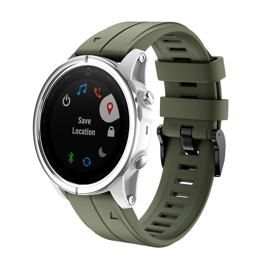 Amazon.com: Choosebuy 20mm Garmin Fenix 5S Watch Band, Fenix ...