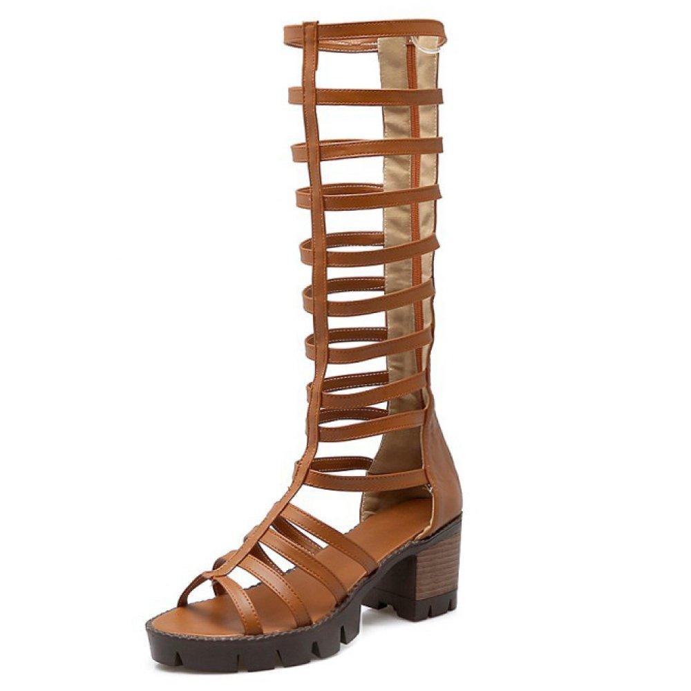 Scarpe Donna Tacco Romano Tacco A Blocco Tacco A Spillo Scarpa Aperta Sandali Gladiatore A Punta Aperta AQOOS