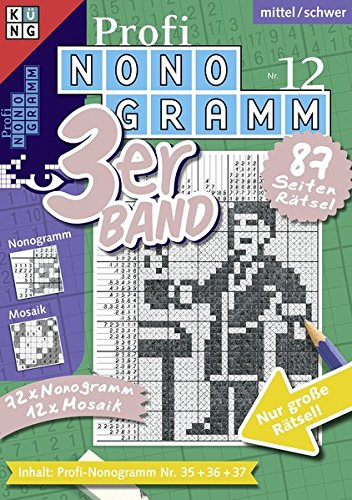 Profi-Nonogramm 3er-Band Nr. 12 (Pic-a-Pix / Logik-Rätsel)
