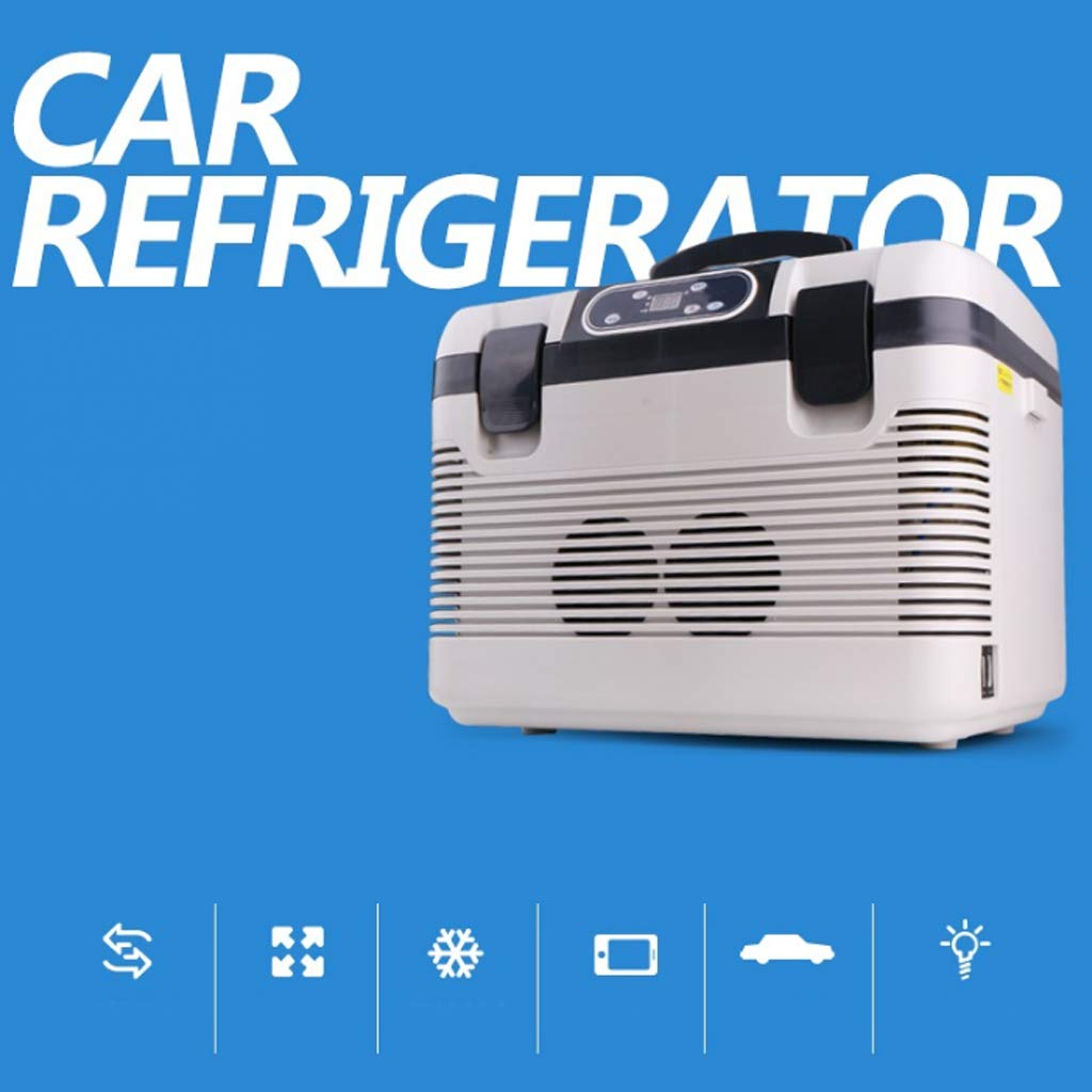 19 litres Double r/éfrig/érateur de Voiture Mini Voiture Maison Double Usage Thermostat Froid et Chaud r/éfrig/érateur 12v24v Camion Petit r/éfrig/érateur