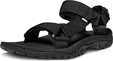 Amazon.com   ATIKA Men's Outdoor Hiking Sandals, Open Toe Arch Support  Strap Water Sandals, Lightweight Athletic Trail Sport Sandals   Sport  Sandals & Slides