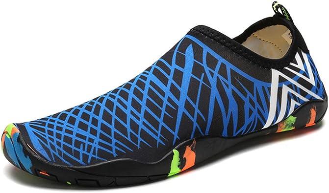 DoGeek Chaussures Aquatiques Homme Femme Chaussures de Yoga Chaussures de Bain Peau Aqua Pilate Chaussures pour Sport Aquatiques de Plage Et d'eau