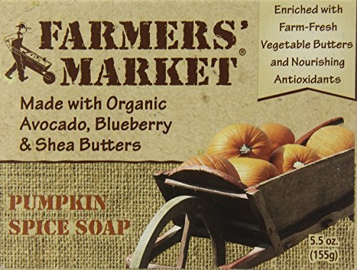 Farmers' Market Natural Bar Soap, Pumpkin Spice, 5.5 Ounce by Farmers - Beaumont Mall Shopping