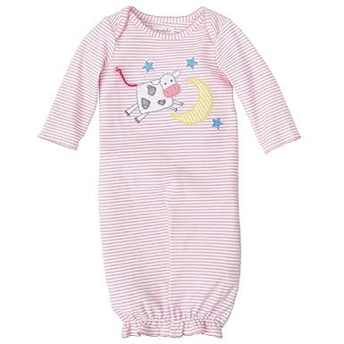 f967aade82 Amazon.com  Mud Pie Baby Girls Cow Convertible Sleepwear Gown  Clothing