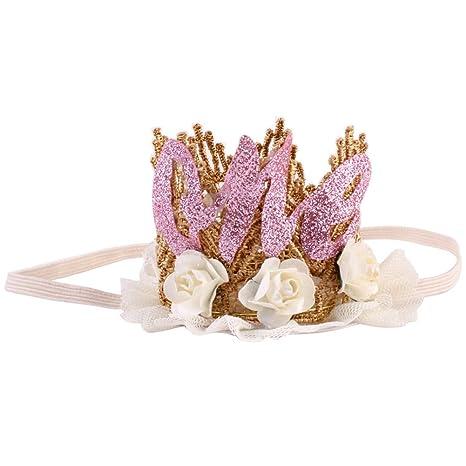 Corona Diademas Corona de joyas - Baby - 1 año Cumpleaños ...