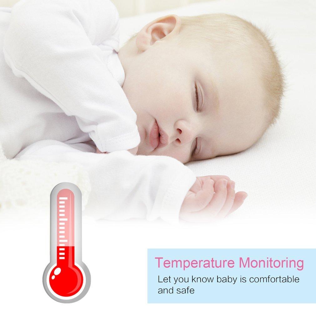 Surveillance de la Temp/érature de Vision Nocturne et Syst/ème de Communica LESHP B/éb/é Moniteur Baby Monitor 3.2 /Écran LCD Couleur 2.4 GHz Vid/éo Num/érique Babyphone sans Fil S/écurit/é pour Baby