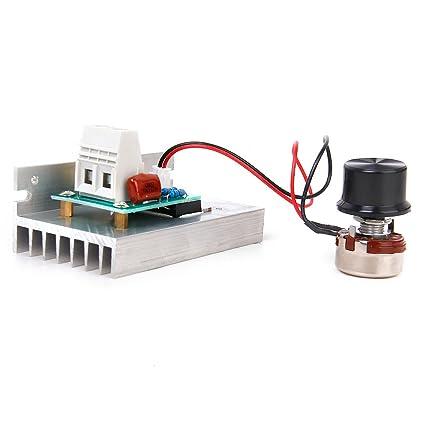 10000W AC220V SCR Voltaje Regulador Motor Velocidad Controlador Termostato