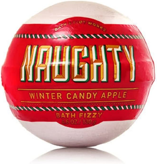 Bath and Body Works Winter Candy Apple Naughty Bath Fizzy Bomb 4.6 Ounce