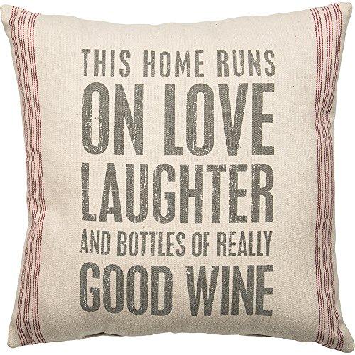 (Primitives by Kathy Vintage Flour Sack Style Really Good Wine Throw)