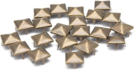 gothique et accessoires de mode 7 mm Trimming Shop Lot de 100 rivets /à griffes en forme d/étoile scrapbooking punk d/écoratifs pour bricolage Gunmetal