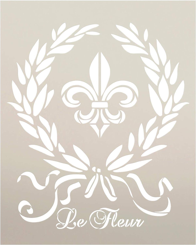 STCL918 Select Size Renaissance Fleur De Lis Art Stencil