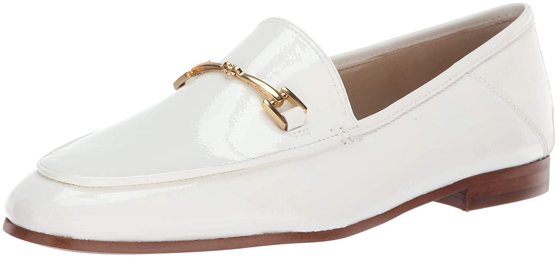 Bright White Patent Sam Edelman Women's Loriane Loafer Flats