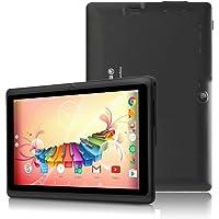 Tablet de 7 Pulgadas Google Android 8.1 Quad Core 1024x600 Cámara Dual Wi-Fi Bluetooth 1GB/8GB Play Store Netfilix Skype Juego 3D Compatible con GMS Certified con Garantía de un año (Negro)