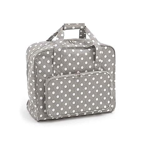 fe9e23c80a Hobbygift Value Collection  Sewing Machine Bag  Matt PVC  Grey Linen Polka  Dot