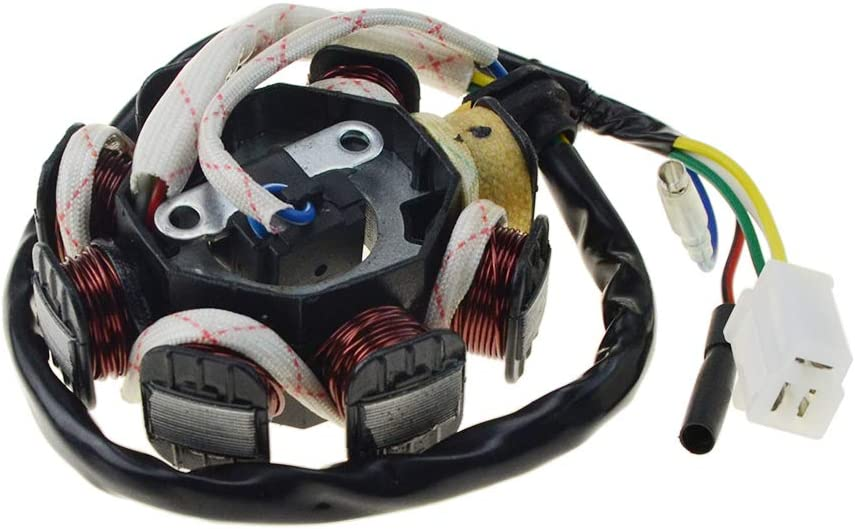 WOOSTAR Statore di accensione Magneto 8 bobina 5 fili di ricambio per GY6 50CC 60CC 80CC ATV Scooter TAOTAO Paliden 150cc Scooter
