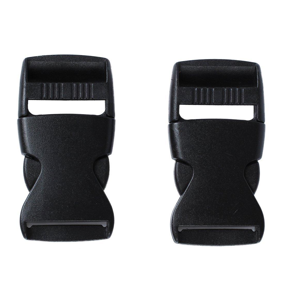 Smirk Sumer Cinta Ajustable de 25 mm de pl/ástico Negro con Hebilla Deslizante para Correa de cincha y Cinta de 3 Barras