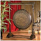 24'' Asian Antique Replica Authentic Metal Gong Art Collection