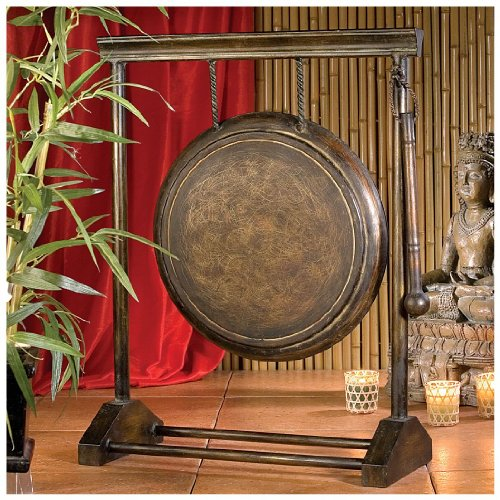24'' Asian Antique Replica Authentic Metal Gong Art Collection by XoticBrands
