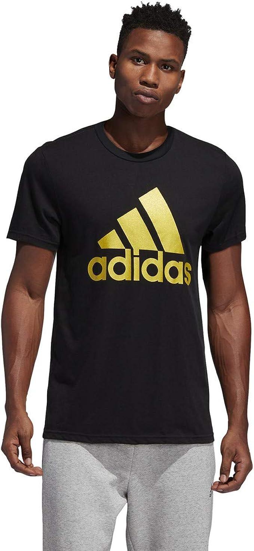 Adidas Originals Badges Black Short Sleeve T-shirt Men/'s Extra Large Graphic Tee